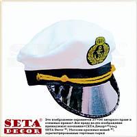 Фуражка капитанская (капитан моряк, кокарда якорь)