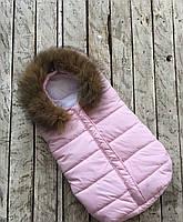 """Конверт для новорожденного """"Дутик Snowman"""" розовый"""