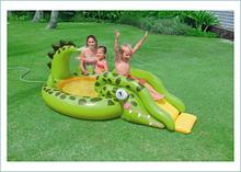 Надувной бассейн с горкой Intex 57132