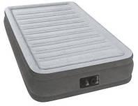 Надувная велюр-кровать Intex  со встроенным электронасосом 191х99х33 см (67766)