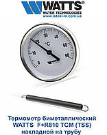 Термометр WATTS F+R810 TCM (TSS) биметаллический накладной на трубы