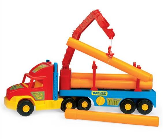 Іграшкова машинка Тягач-трубовоз з серії Super Truck Wader (36540)