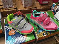 Кроссовки детские для девочек на липучках Mountain оптом Размеры 25-30