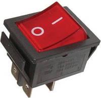 Переключатель с подсветкой IRS-201-1С ON-OFF, 4pin, 15A, 220V, красный