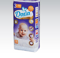 Подгузники дада DADA PREMIUM 3 MIDI - 60шт. / 4-9 kg