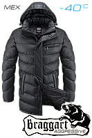 Куртка на меху удлиненная мужская Braggart Aggressive - 1955S графит
