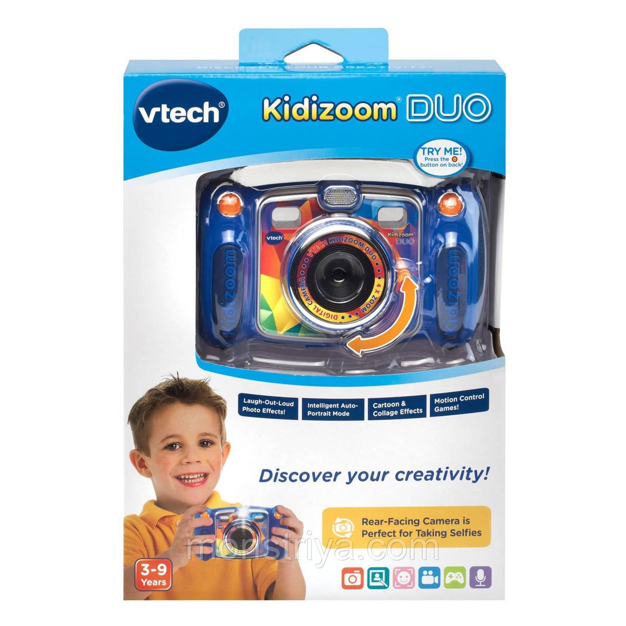 Детский цифровой фотоаппарат Vtech Kidizoom Duo с двумя камерами