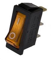 Переключатель с подсветкой IRS-101-1С ON-OFF, 3pin, 15A, 220V, желтый