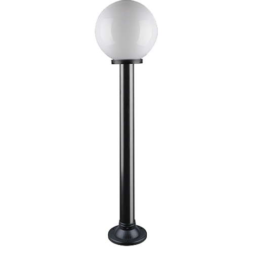 """Світильник парковий вуличний """"Стовп"""" 1м з базою для стовпа і куля ф150мм білий IP44"""