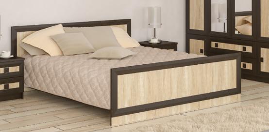 Кровать двуспальная Даллас венге-самоа Мебель-Сервис