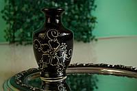 Керамическая черная ваза, глянец