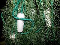 Бредень, волок, невод 4 метра, Ø20 ячейка(1,6 м высота)