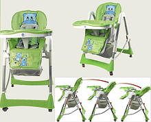 Стульчик для кормления с 2 колесами 7Toys зеленый (C0101)