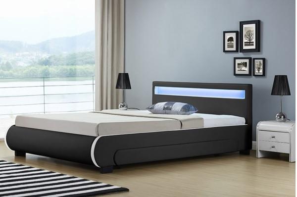Ліжко шкіряна двоспальне BILBAO 180х200 див. LED