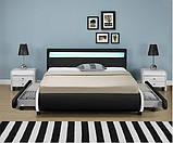 Ліжко шкіряна двоспальне BILBAO 180х200 див. LED, фото 2