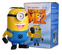 Портативная колонка Миньон MP3 USB MicroSD (XC 01-02)