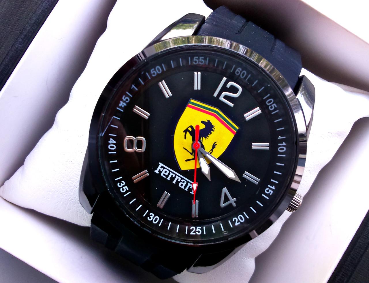 Часы Ferrari на каучуковом ремешке реплика