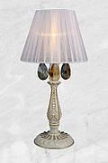 Настольная лампа в классическом стиле (55-MK30027T-1 WT+FGD)