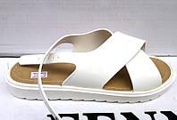Босоножки женские силиконовые белые KF0369