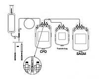 Потрійні контейнери для взяття крові з розчинами ЦФД та САГМ