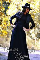 Платье длинное, стильное, тёплое, с карманами, осень-весна. /Фиолетовое/ 8 цветов