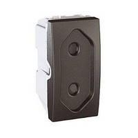 Розетка без заземления с защитными шторками (1 модуль), графит Schneider Electric Unica Top MGU3.031.12