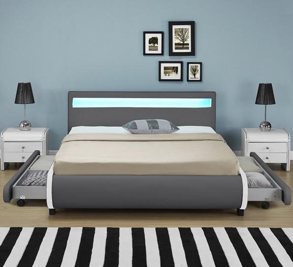 Кровать BILBAO из екокожи 140х200 см. с пультом