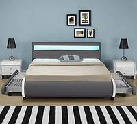 Кровать BILBAO из екокожи 140х200 см. с пультом, фото 1