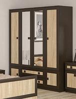 Шкаф Даллас 4Д2Ш венге-самоа Мебель-Сервис   /  Шафа Даллас 4Д2Ш венге-самоа Мебель-Сервіс