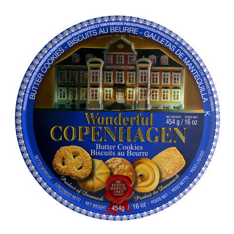 Песочное печенье Wonderful Copenhagen Butter Cookies ж/б, 454 гр.