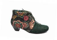 Осінні черевики з квітковим малюнком, фото 1