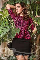 Платье баска узорчатое