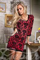 Красное 3D-платье