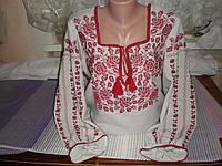 """Жіноча вишита сорочка """"Троянда"""" червона"""