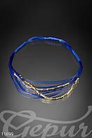 Синее этническое ожерелье