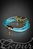 Этнический голубой браслет
