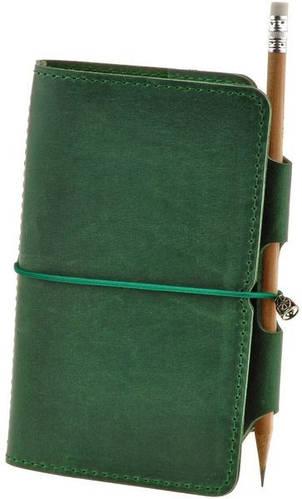 Чудесный кожаный софт-бук Мысли о бамбуке BlankNote BN-SB-3-mi-mob зеленый