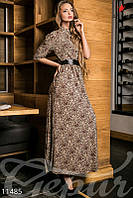 """Платье """"коричневый леопард"""""""