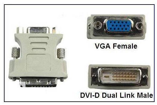 переходник dvi d vga не работает