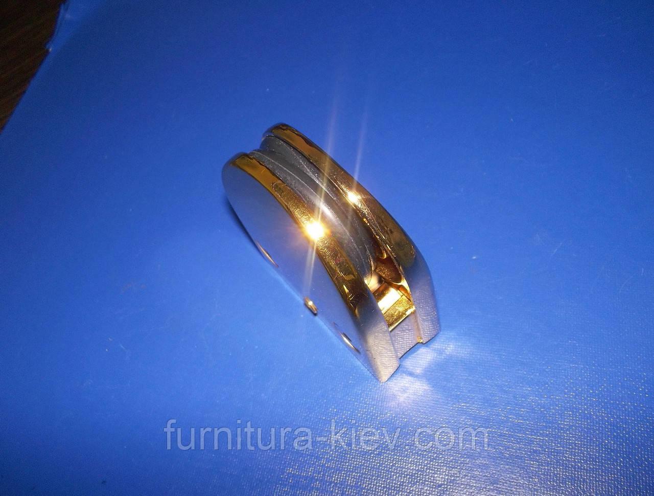 Стеклодержатель для полок золото под трубу, фото 1