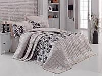 Постельное бельё евро со стёганым летним одеялом Cotton box Lena