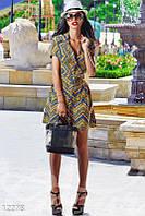 Разноцветное платье-рубашка