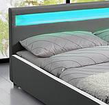 Ліжко SEVI 180х200 см з LED підсвічуванням, фото 3