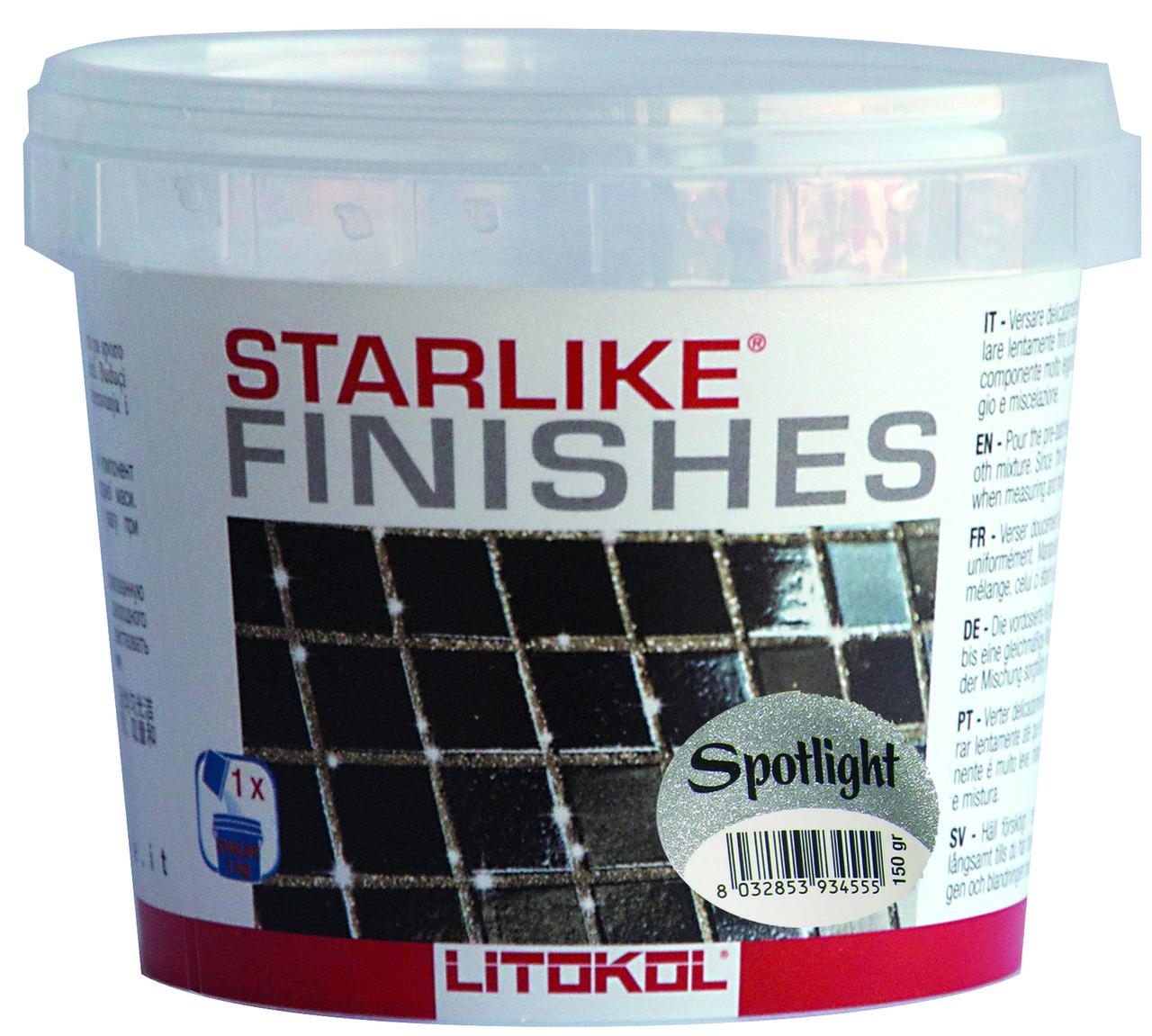 Добавка для затирки Litokol  Starlike Spotlight, 75гр (серебрянная крошка)