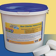 Медленнорастворімие таблетки хлору Crystal Pool Slow Chlorine Tablets Large (5 кг)