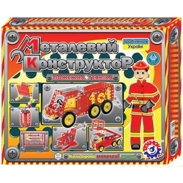 Конструктор метал  Пожарная техника Технок (2056)