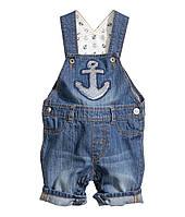 Детский джинсовый комбинезон   9-12 месяцев