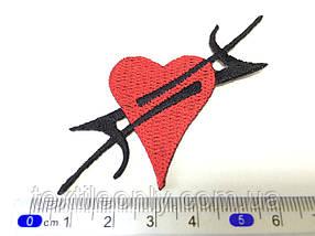 Нашивка Татуировка Сердце цвет красный
