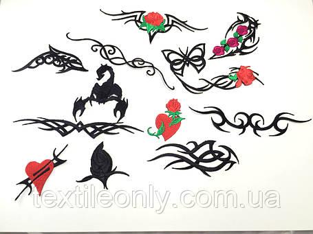 Нашивка Татуировка орнамент дельфин, фото 2