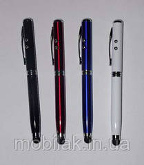Лазерная указка 4в1 (лазер + фонарик + стилус + ручка) в наличии